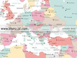 Map Of Spain With Cities by Printable Large World Map With Cities And Capitals In Pastel