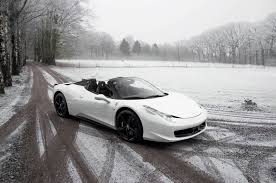 Ferrari 458 Horsepower - bianco ferrari 458 spider out in the snow gtspirit