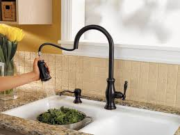 touch faucets for kitchen satin rubbed bronze faucet kitchen deck mount single handle
