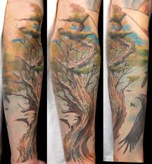 family tree sleeve design idea for and