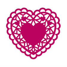 heart doily silhouette design store view design 248617 heart doily
