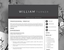 functional resume etsy