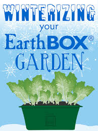 winterizing and pre planning for spring earthbox growing
