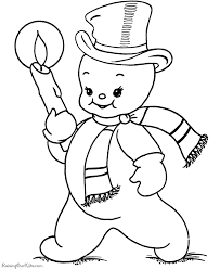 snowman coloring pages 002