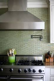 Best Kitchen Tile Images On Pinterest Kitchen Tiles - Green glass backsplash tile