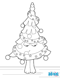christmas tree all adorned coloring pages hellokids com