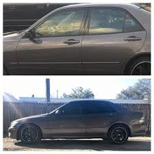 lexus tampa fl before and after of my lexus is300 went from no tint to a medium