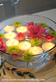 Floating Candle Centerpiece Ideas How To Make Floating Tea Light Candles Town U0026 Country Living