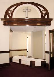 church baptistry fayette christian church strata architecture preservation