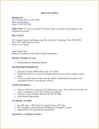 resume computer skills sample sample resume for fresher computer science engineer free resume sample resume for software engineer fresher