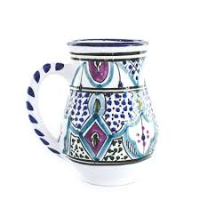 hand painted mug malika fair trade handmade mugs globein