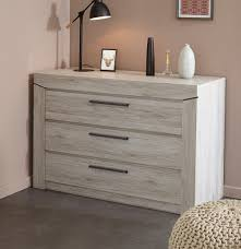 commode contemporaine chambre commode adulte contemporaine 3 tiroirs chêne gris julietta