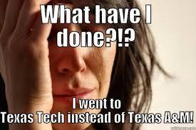Texas Tech Memes - texas tech girl quickmeme