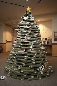 stacked books tree in unc library ho ho house