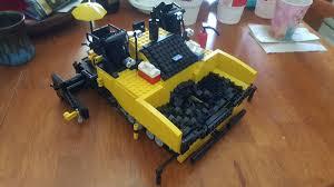 lego moc paver based on catterpillar 555e asphalt paver a dump