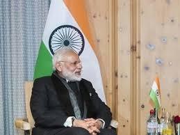 Seeking In India Narendra Modi Makes His Davos Debut Seeking Bigger Global For