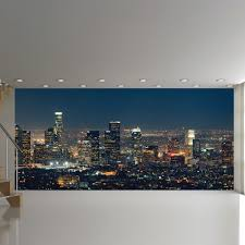 angeles panoramic wall mural city skyline wallpaper bedroom photo