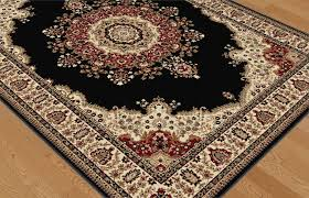 Persian Rug Mouse Mat by Black Traditional Oriental Area Rug Medallion Floral Red Ivory