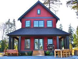 Modern Cottage Design by Sears Architects Seattle Modern Cottage Style Architecture Red