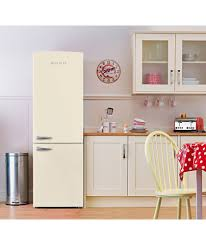 buy bush bsff60 retro tall fridge freezer cream at argos co uk