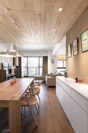 Dining Room Paneling Apartment Stunning Contemporary Apartment With Natural Wood Look
