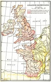 Map Of France And England by The Angevin Dominions 1250 England France Ireland Scotland