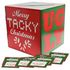 ugly sweater contest ballot box