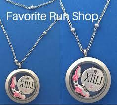 round locket necklace images Stainless steel round locket half marathon necklace favoriterunshop jpg