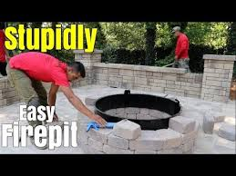 Easy Firepit Easy Pit Build Diy How To Build A Patio Firepit