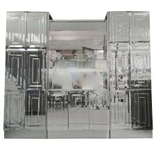Mirrored Bar Cabinet Ello Mirrored And Illuminated Display Cabinet And Bar At 1stdibs