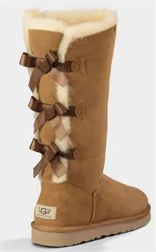 womens ugg boots on sale ugg chestnut triplet bailey bow corduroy boots
