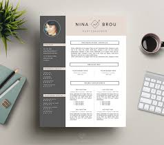 resume design minimalist games for girls feminine resume design cv resume templates creative market