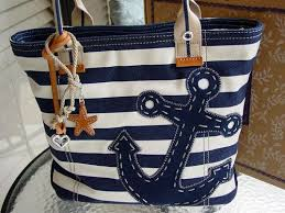 nautical bags nautical canvas bag with anchor rope bag travel by lisastutus