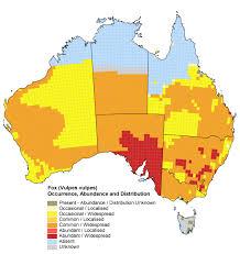 Australian States Map by The Fox Website Populations Australia