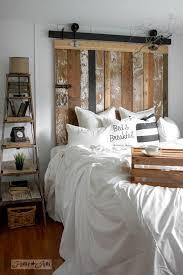 Reclaimed Wood Headboard a cheater reclaimed wood barn door headboard with faux hardware