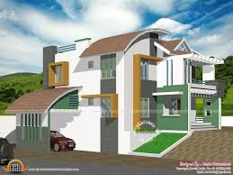 contemporary hillside house kerala home design and floor modern