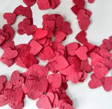 Paper Decoration For Valentine Day by Valentine U0027s Day Red Seed Paper Heart Confetti Diy Valentine