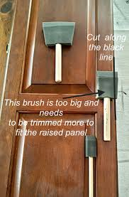 Paint Finishes For Kitchen Cabinets by Painting Raised Panel Kitchen Cabinet Doors Brushes Vs Foam