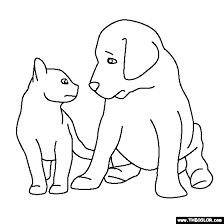 lovely puppies kittens coloring pages 56 coloring pages