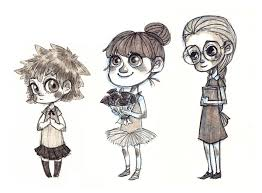 girls sketches on scad portfolios