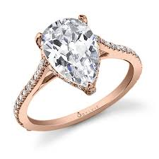 Pear Shaped Wedding Ring by Stunning Pear Shape Diamond Engagement Ring