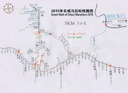 Map Of The Great Wall Of China by 厘議麼匈
