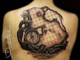 World Map Tattoo A Beautiful Piece U201c U2026wish I Knew How To Turn Back The Hands Of Time