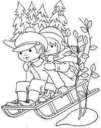 kids coloring pages winter sledding alphabet coloring pages of