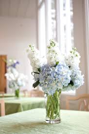 White Hydrangea Centerpiece by Blue Hydrangea Centerpiece Hydrangea Wedding Flower Arrangement