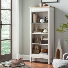 ivory bookcases wayfair