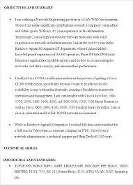 Network Engineer Resume Sample Cisco by Entry Level It Resume U2013 Okurgezer Co
