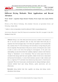 different drying methods their applications and recent advances