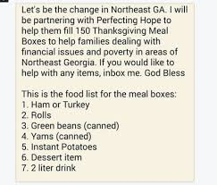 donate a thanksgiving dinner to a family in need monkey