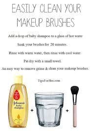 11 makeup cleaning hacks makeup brush cleaner homemade